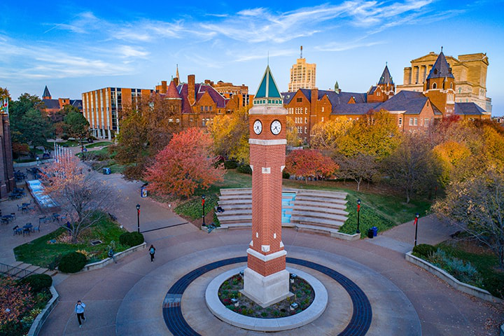 SLU clock tower