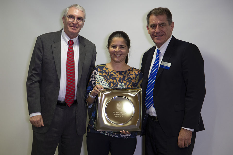 Silvia Bayón, '01 (B.S. in Aerospace Engineering, summa cum laude, M.S. in Aerospace Engineering '02) received the Professional Achievement Award for her accomplishments in the aerospace industry.